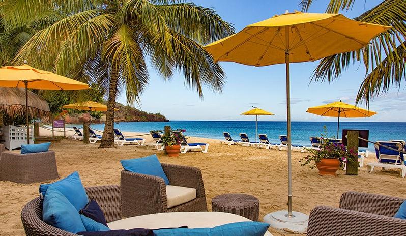 Savvys Beach bar on Grand Anse beach.